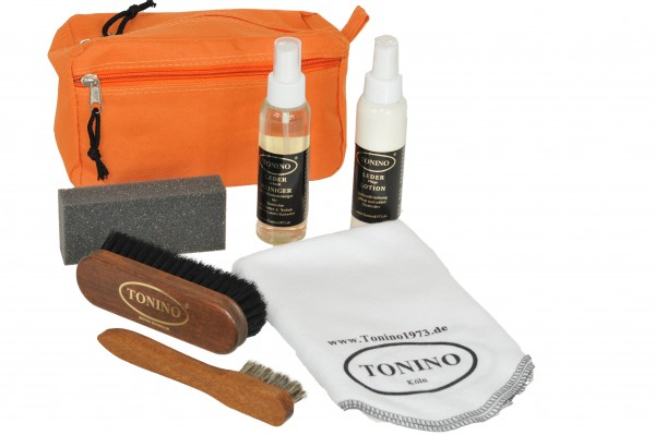Car leather cleaning and care kit