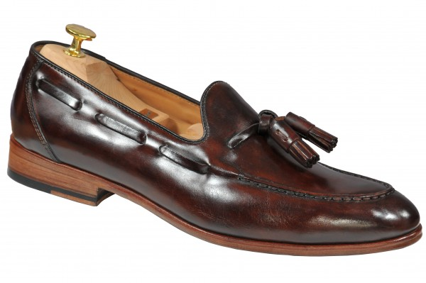 Steinhauer Tassel Loafer in Middle Brown Style Franco