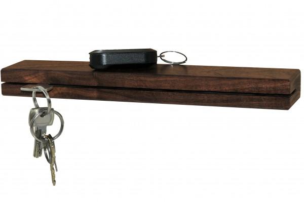 Schlüsselbrett Nussbaum 30 cm