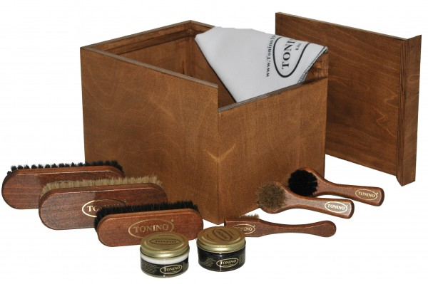 Dark shoe-shine box style Napoli