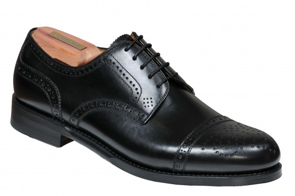 Steinhauer Halfbrogue in Black Style Antonio