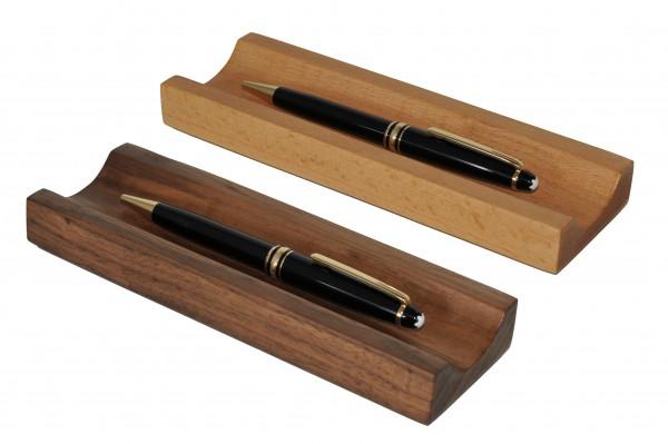 Stiftablage in Nussbaum oder Buche Stiftschale