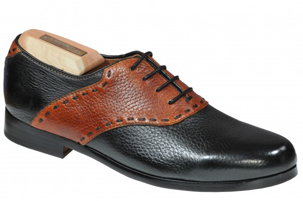 Steinhauer Giulia in Black with Cognac deerskin