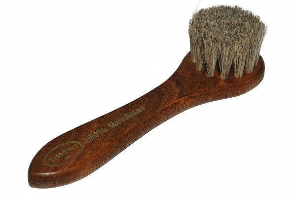 Apply leather care brush handle 100% + HORSEHAIR.
