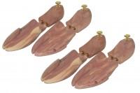 2 Paar Herren Luxus Schuhspanner Zedernholz Größe 40/41