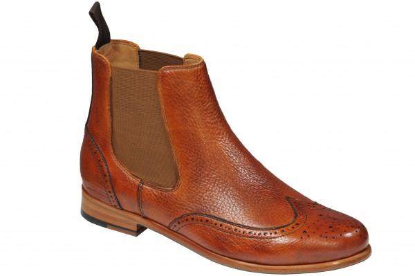 Steinhauer Chelsea Boot in Hirschleder Cognac Modell MartinaG