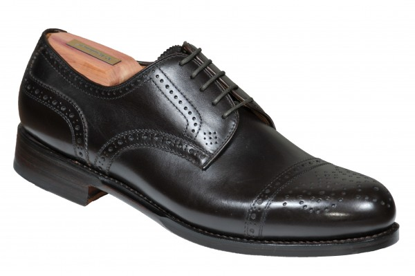Steinhauer Halfbrogue in dark Brown Style Antonio