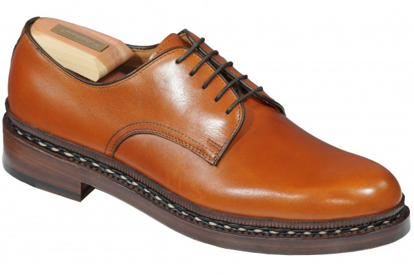 Steinhauer Lorenzo Plain Derby in Walnut Calf