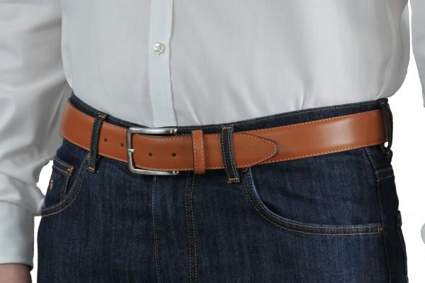Hellbraun Ledergürtel 35 mm breit