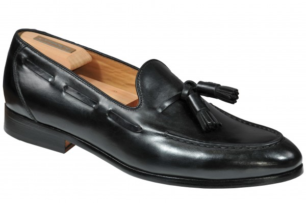 Steinhauer Tassel Loafer in Black Style Franco