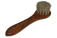 Apply leather care brush handle 100% + HORSEHAIR. Dark Hair